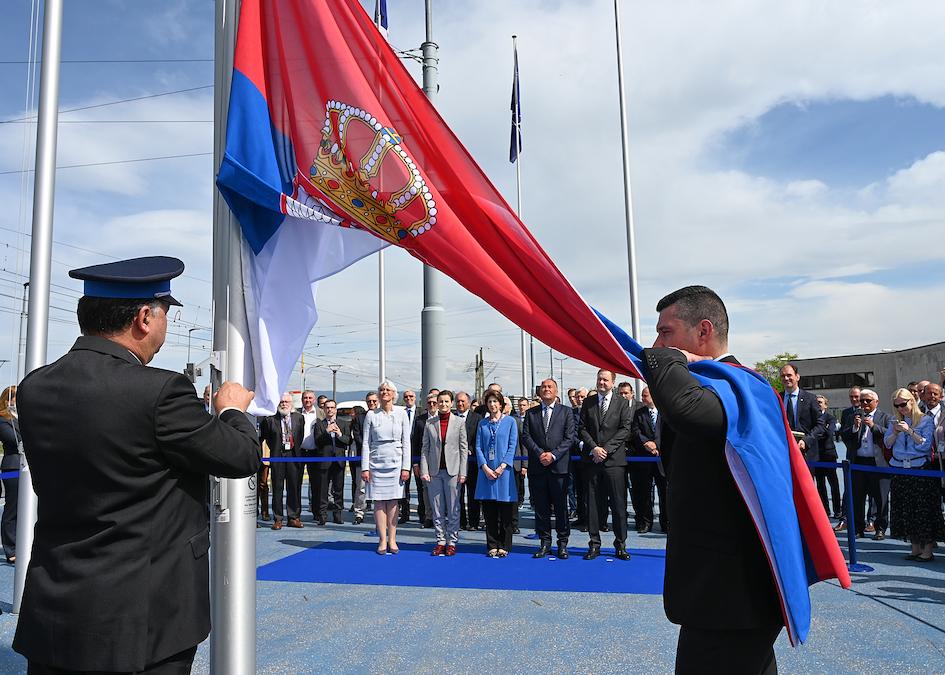 Serbian flag raised at CERN